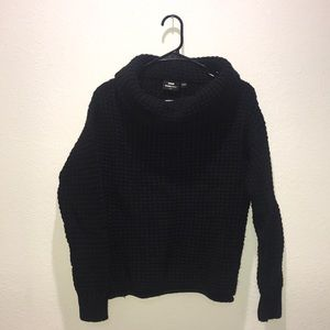 Cool neck black sweater